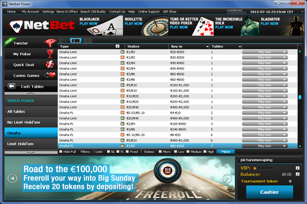 NetBet Poker screen shot